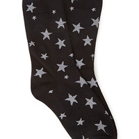 FOREVER 21 Metallic Star Socks