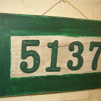 House Number Sign / Address Sign / Antique / Vintage / Rustic / Date Sign / Wedding Date Sign / Custom Sign / Cottage Chic / Paris Apartment