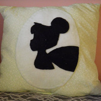 Disney Silhouette Pillow by Bedazzleddd on Etsy