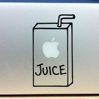 Apple Juice Box - Vinyl Macbook / Laptop Decal Sticker Graphic: Computers & Accessories