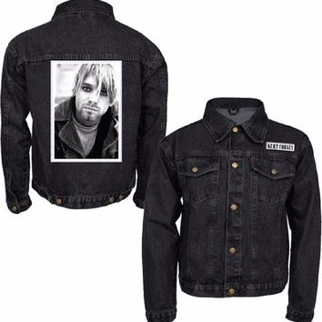 Nirvana Kurt Cobain Photo Patch Licensed Adult Denim Jacket