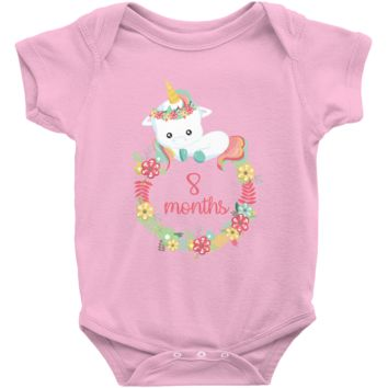 Unicorn Milestone Infant Bodysuit - 8 Months