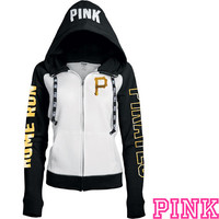 Pittsburgh Pirates Victoria's Secret PINK® Color Block Full Zip Hoodie - MLB.com Shop