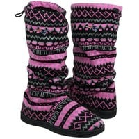 New England Patriots Women's Jacquard Knit Boots - Pink/Black