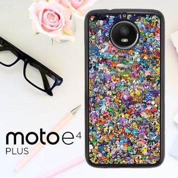 Pokemon Collage L1475 Motorola Moto E4 Plus Case
