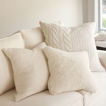 Faux Sheepskin Pillow Covers | Pottery Barn