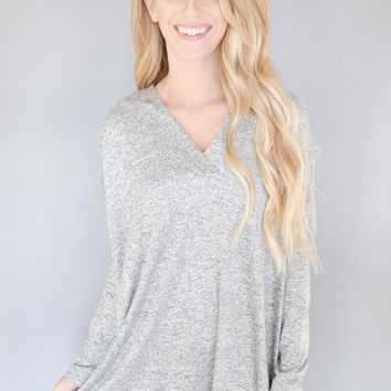 Day Dreaming Knit Top Grey