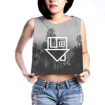 The Neighbourhood Shirt Crop Tops Women Tanks