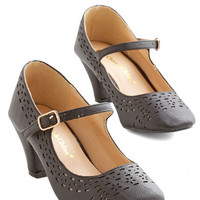 ModCloth Vintage Inspired Cut it Haute Heel in Black