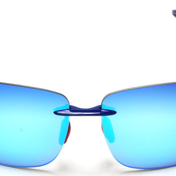 Ultra-Light Flex TR90 Sport Sunglasses Blue Mirror Lens
