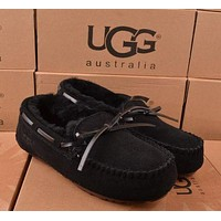 UGG Women Fashion Wool Snow Boots Black