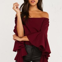 DAYS GO UNNOTICED OFF THE SHOULDER TOP - What's New