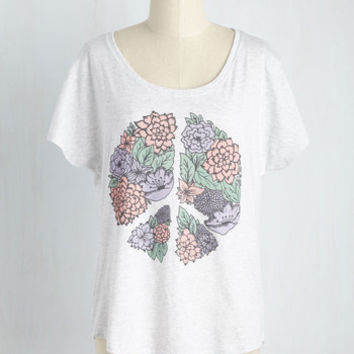 Peonies, Love, and Happiness T-Shirt | Mod Retro Vintage Sweaters | ModCloth.com