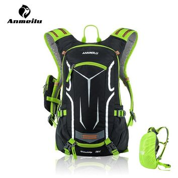 ANMEILU 18L Waterproof Bicycle Backpack,Cycling Bike Sport Bag,Outdoor Camping Hiking Climbing Bag With Rain Cover, No Water Bag