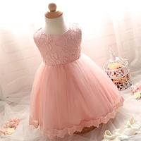 Lace Girl Wedding Dresses For Newborn Baby Girl Party Dress Girl 1 Year Birthday Kids Clothes Baby's Wear 3 6 12 18 24 Months
