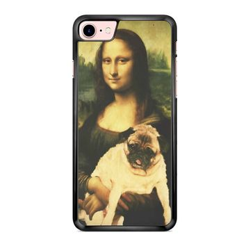 Mona Lisa Pug 1 iPhone 7 Case