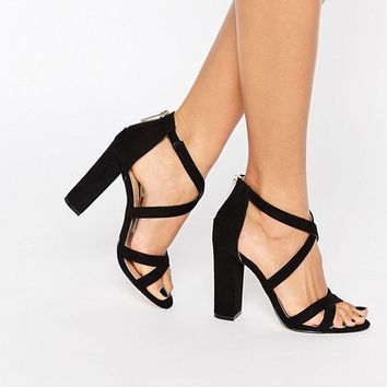 Miss KG Sian Strappy Block Heeled Sandals at asos.com