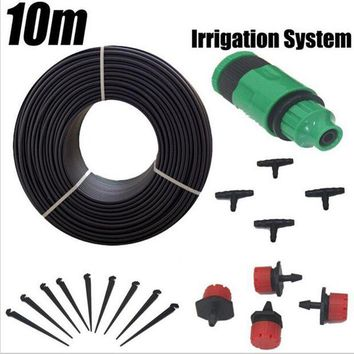 ONETOW 10m Hose 12 Droppers Home Garden Bonsai Flower Drip Irrigation System Patio Misting Cooling System Kits Micro Watering