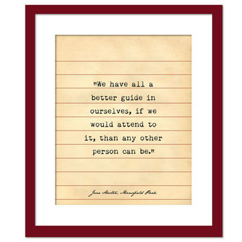 Mansfield Park Quote - Jane Austen - Library Card Art - Book Lovers Poster - Literary Poster - Book Gift - Teacher Gift - Jane Austen Gift