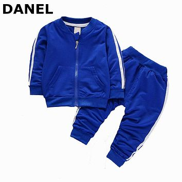 2017 Fashion Autumn Winter Baby Boy Girls Clothing Sets Newborn Tracksuits Zipper Jacket + Pants Infant 2PCS Suits Sport Clothes