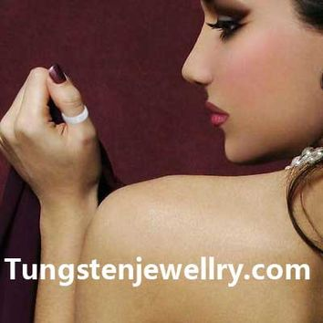 Vintage Jewelry  Ceramic Brushed & polished shiny  Ring - Tungstenjewellry.com