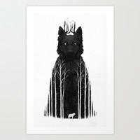 The Wolf King Art Print by DB Art