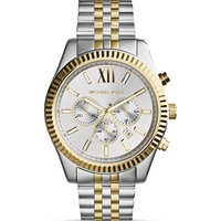 Michael Kors Men's Two-Tone Lexington Chronograph Watch, 45mm