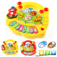 1PC Animal Farm Music Piano Baby Developmental Music Toys Educational Toy Kids Gift = 1946175492