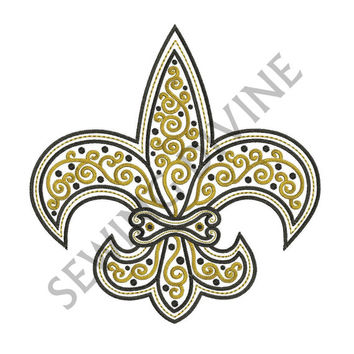Machine EMBROIDERY DESIGN FLEUR de lis Filigree Scroll 4x4 5x7 6x10 Instant Download