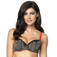 Sweet Revenge Unlined Bra - Cheetah