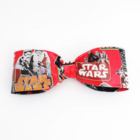 Star Wars Jedi Storm Troopers Men's Red Clip On Bow Tie, Cool Boy's Bowtie, Stocking Stuffers, Nerdy Geek Chic  Boyfriend Gift, Accessories