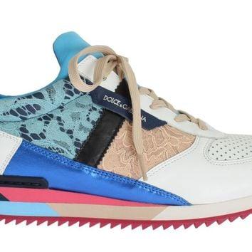 Dolce & Gabbana Multicolor Leather Lace Sport Sneakers