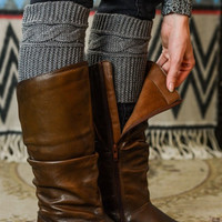 Ashley Ribbed Knit Boot Cuffs