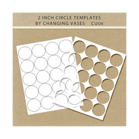 INSTANT DOWNLOAD Make Your Own 2 inch Circles Digital Collage Sheet Template Bottlecap / Bottle Cap Jewelry Stickers Scrapbook Embellishment
