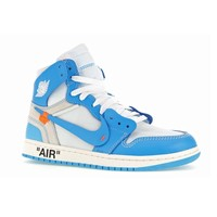 "Air Jordan 1 ""UNC"" Powder Blue by OFF-WHITE"