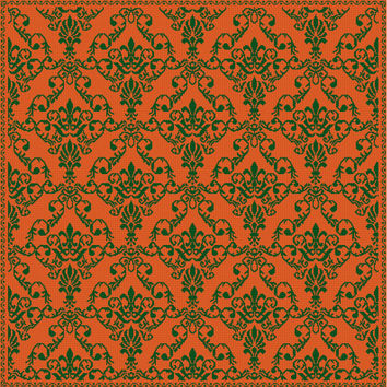 digital instant download cross stitch pattern pdf chart orange green couch pillow cover diy home decor modern xstitch cushion wallpaper