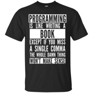 Funny Programmer T-Shirt Hoodie - Programming Like A Book Tee