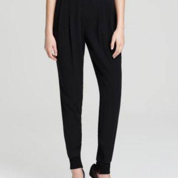 EILEEN FISHER BLACK ANKLE PANT WITH CUFF