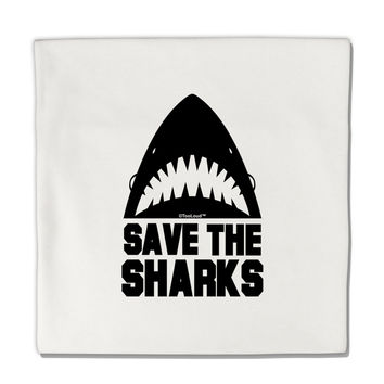 "Save The Sharks Micro Fleece 14""x14"" Pillow Sham"