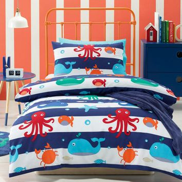 jiggle&giggle Sea Creature Kids Room Bedding Cushion Blanket Floor Rug