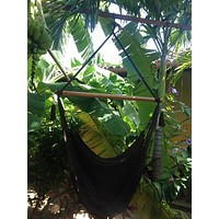 Mission Hammocks Hanging Hammock Chair Organic Cotton - Black