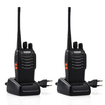 Baofeng BF-888S Rechargeable Toy Walkie Talkies set intercom phone toy professional walky talky gadget Handheld Transceiver P20