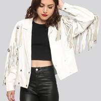 Foxy Lady Leather Fringe Jacket