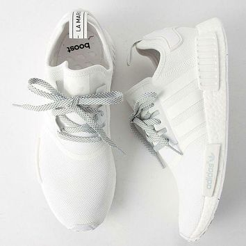 Adidas NMD R1 3M Reflective shoelace Women Men Fashion Trending Running Sports Shoes White G