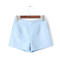 Winter Korean High Rise Simple Design Slim Shorts [4917797188]