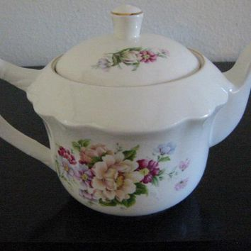James Kent Old Foley Staffordshire England Signed Porcelain Teapot