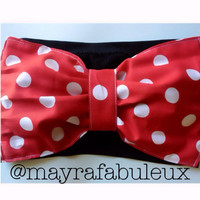 Minnie Mouse Inspired polkadots Bow Bandeau
