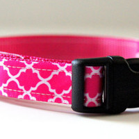 Pink Dog Collar Adjustable Sizes (XS, S, M)