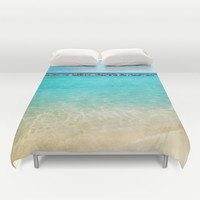 Blue Curacao Duvet Cover by Jenndalyn