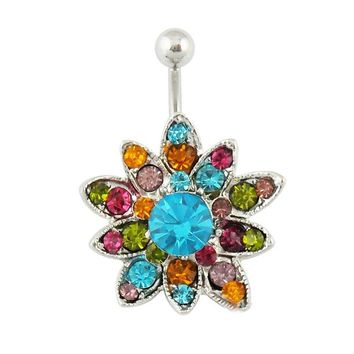 Buy Unique sunflowers Hinged Belly Button Ring on Shoply.